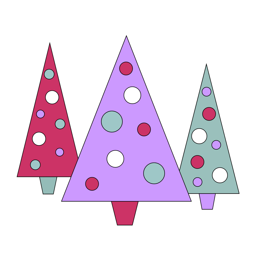 Free clipart n images colorful christmas tree