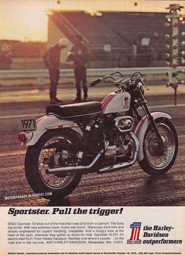 racing caf u00e8 vintage brochures harley davidson sportster