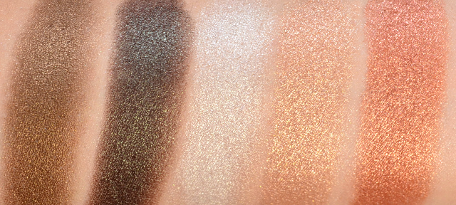 Manhattan Sparkling Nudes Eyeshadow Gold Nude Swatches