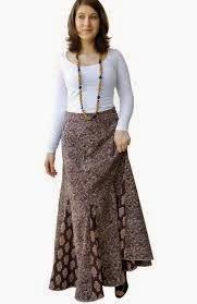 rok muslimah batik