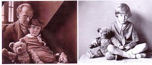 Winnie The Pooh'un yaratıcısı Yazar A. A. Milne ve oğlu Christopher Robin