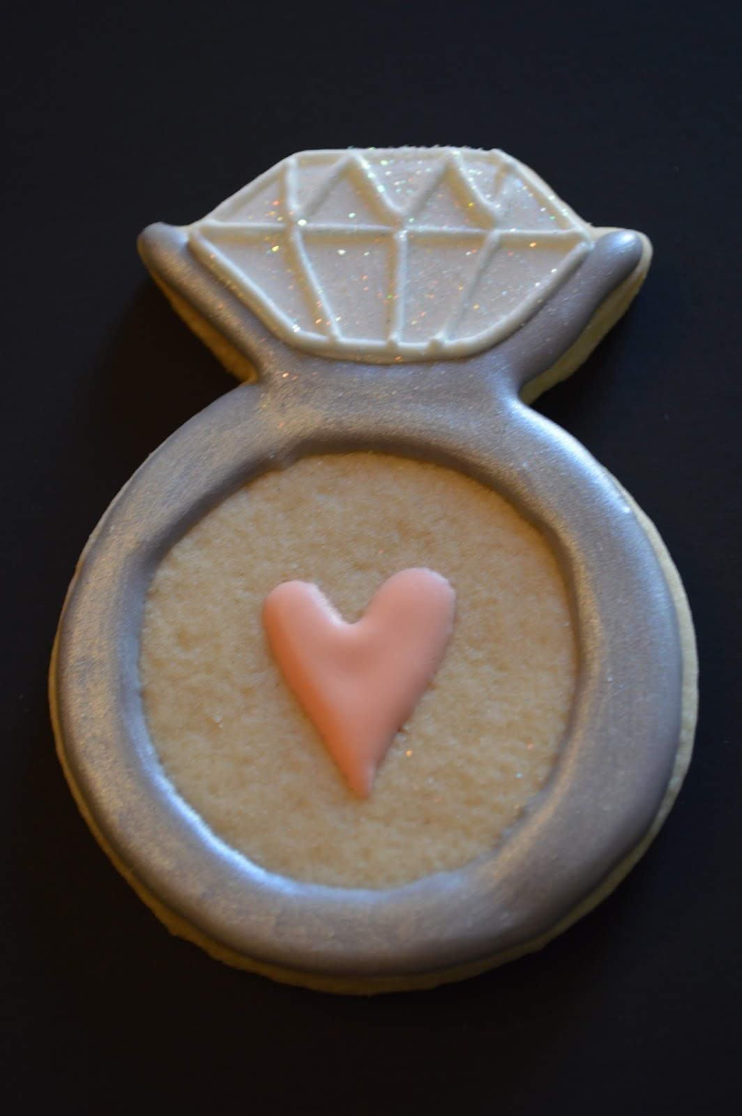 how to make engagement ring cookies