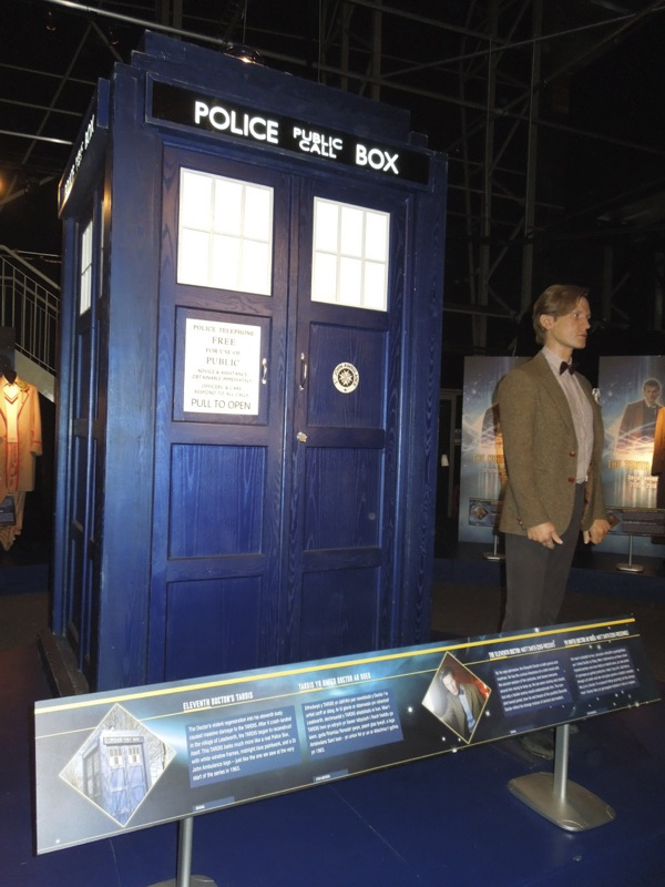 TARDIS Matt Smith Doctor Who waxwork