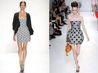 fotos e imagens de modelos de Vestidos de Bolinha