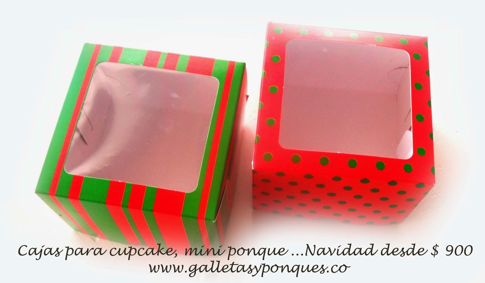 Todo para decoracion en galletas y ponques - Cajas con motivos navidenos ...
