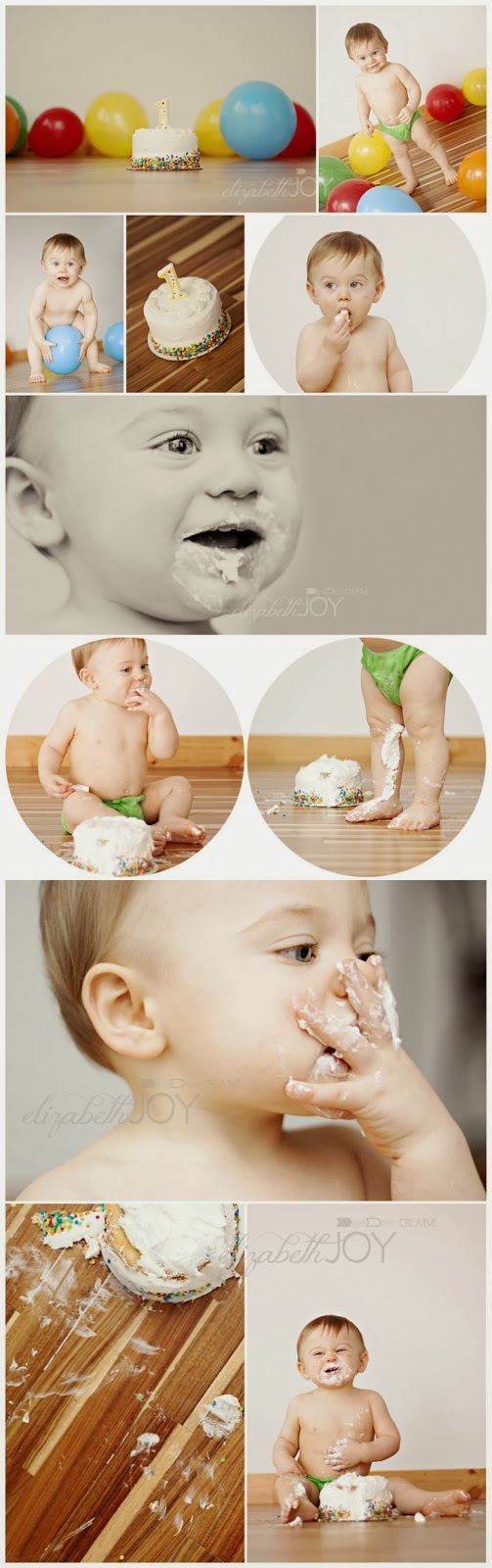 First Birthday Cake Smash Photo Session