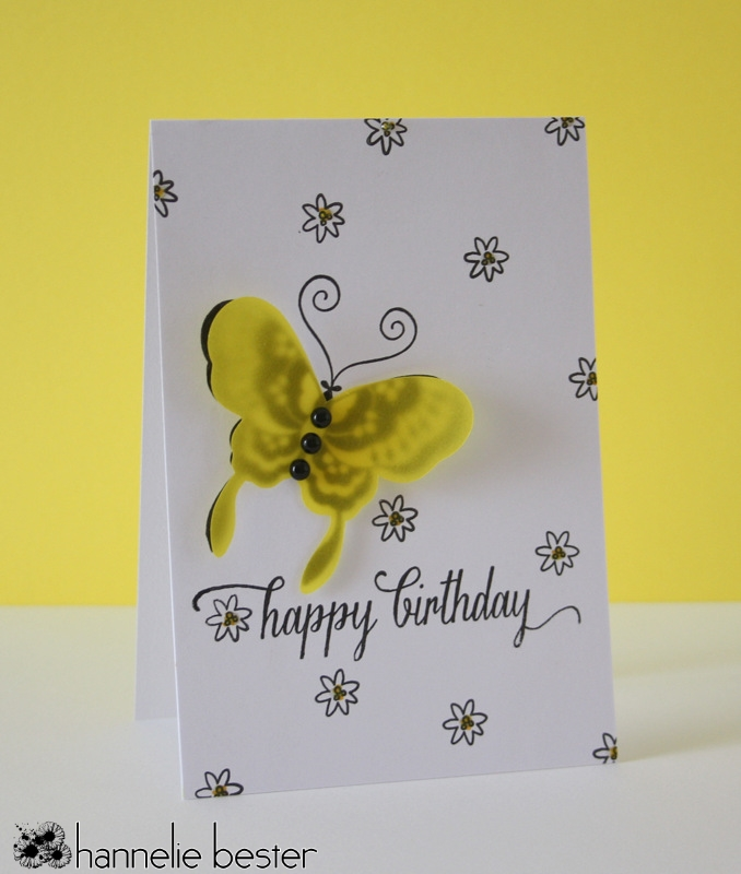 vellum butterfly card