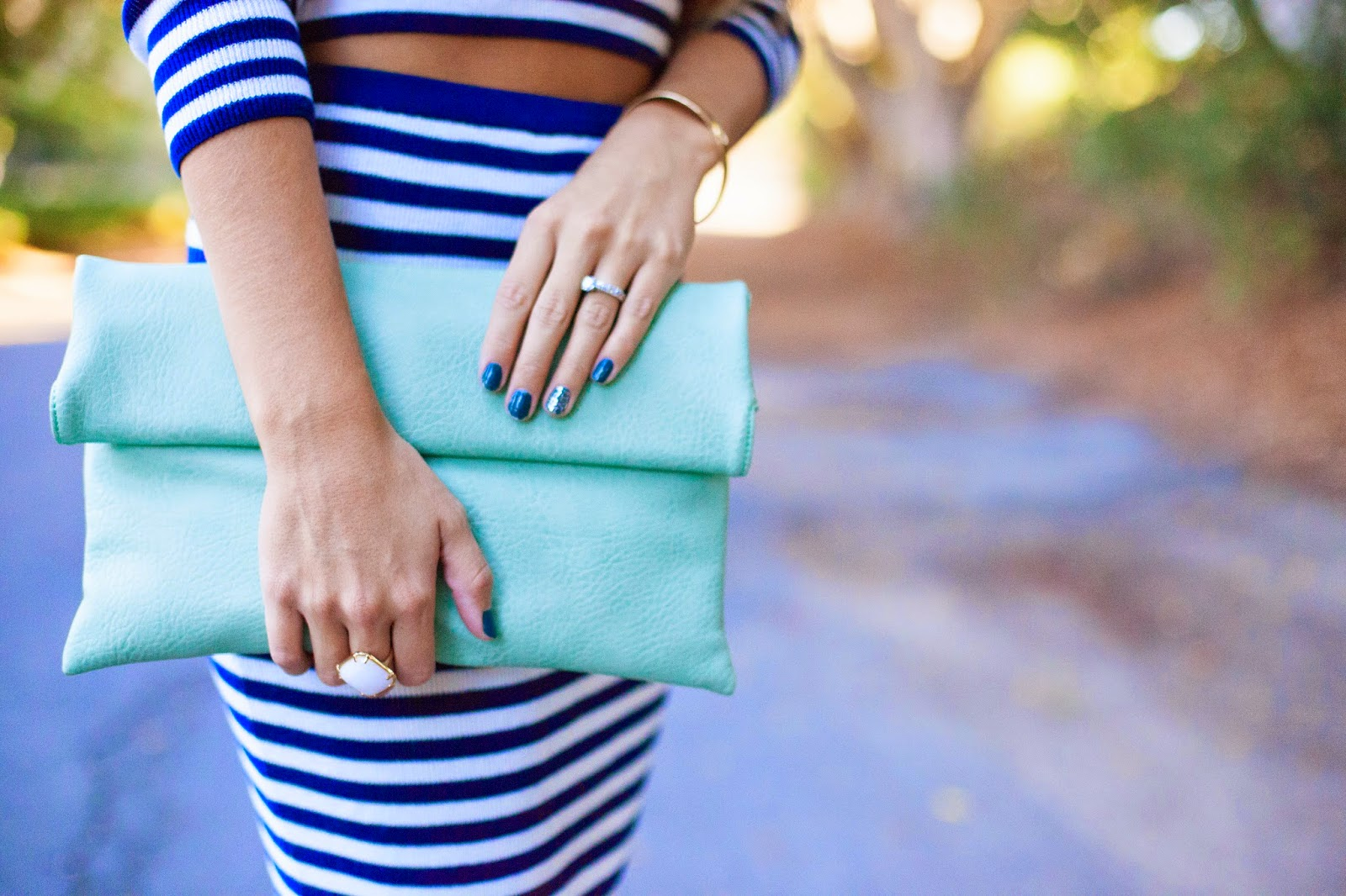 mint foldover clutch