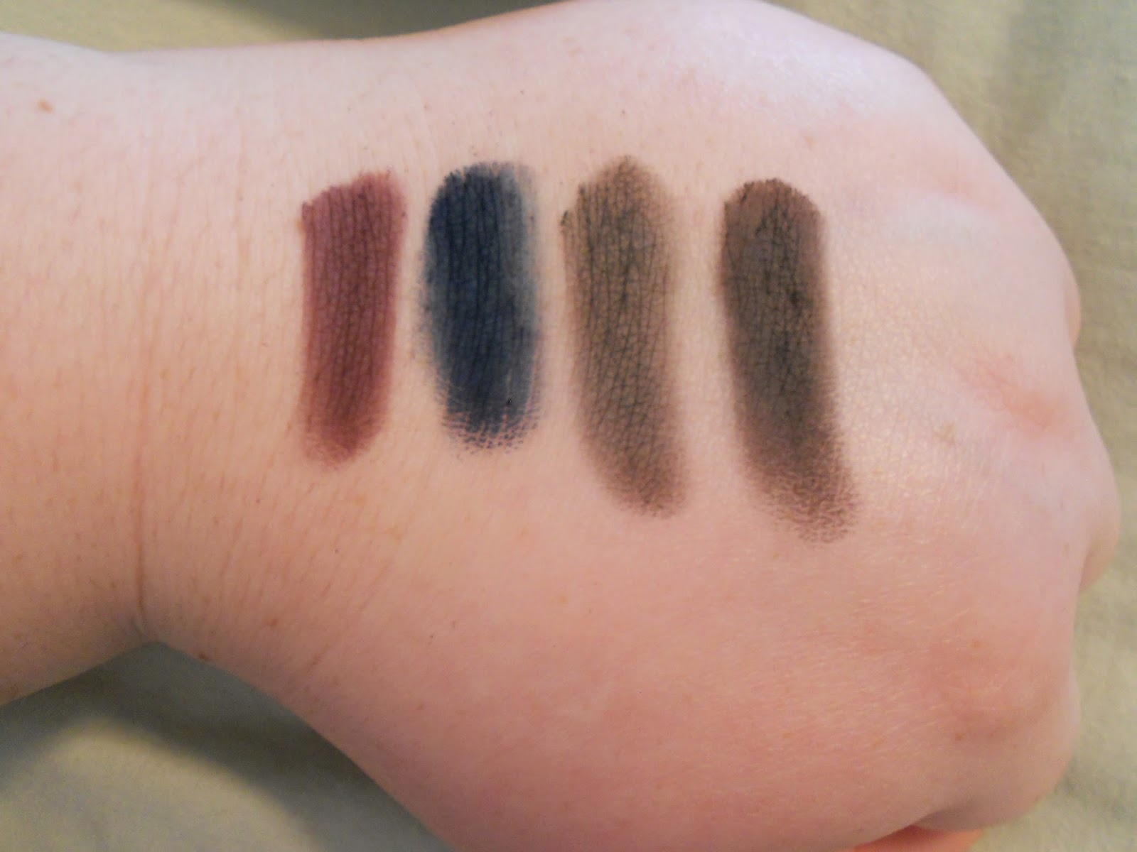 Lorac PRO Palette 2 Swatches - Plum, Navy, Charcoal and Black