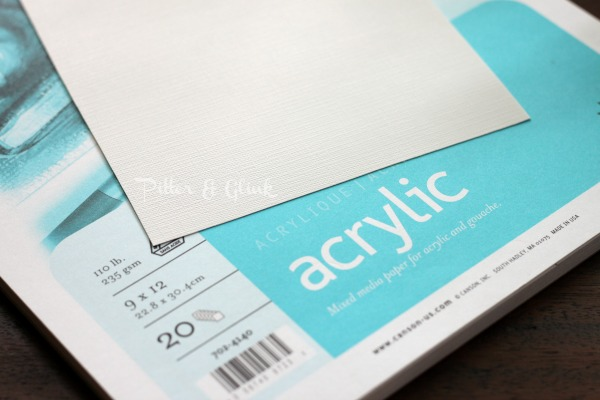 Acrylic art paper is key to creating your own DIY feather art. pitterandglink.com #DIYart
