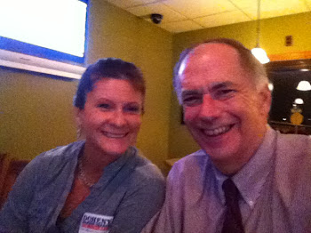 Lewis County's Tammy and I at Pete's Watching Debate