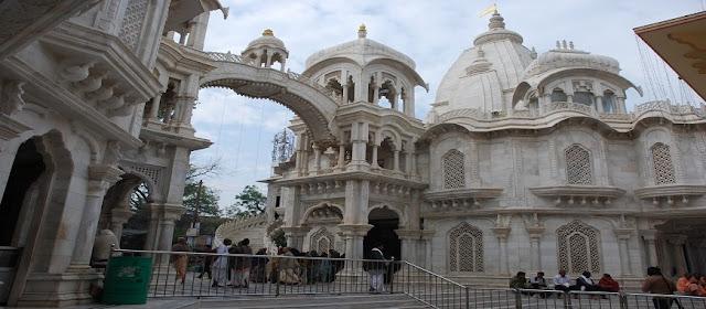isckon temple vrindavan architecture