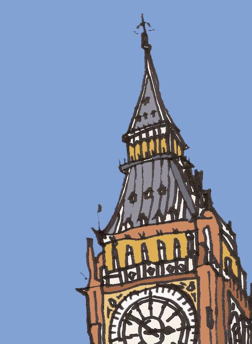 London Clock Drawing James hobbs  clock tower London Clock Tower Drawing