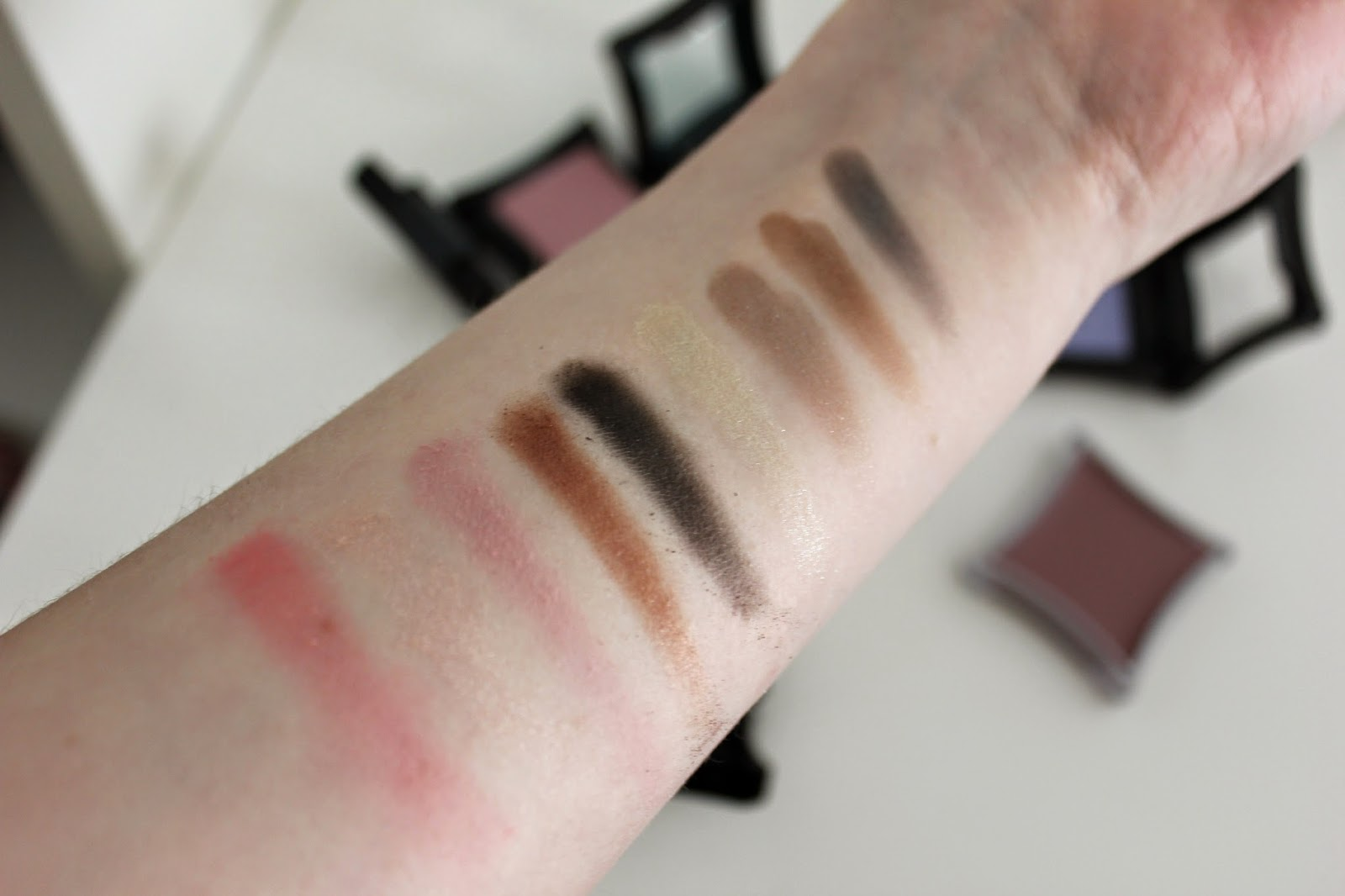 Illamasqua Reflection & Semblance Palette Swatches