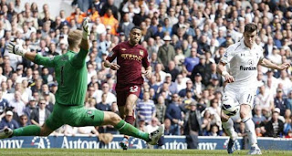 Video Gol Tottenham Hotspur vs Manchester City 21 April 2013