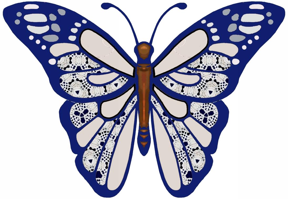 Artbyjean paper crafts butterflies clip art to cut for Paper art butterfly