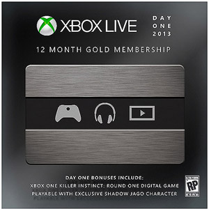 Microsoft Xbox Live 12 Month Gold Membership Card Limited