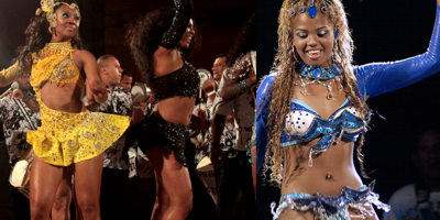 black brazilian carnival girls mulatto, mulatas