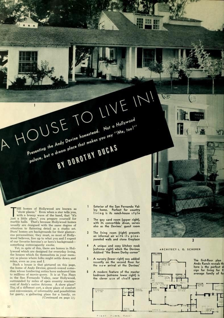 ANDY DEVINEu0027S VAN NUYS HOME IN 1939