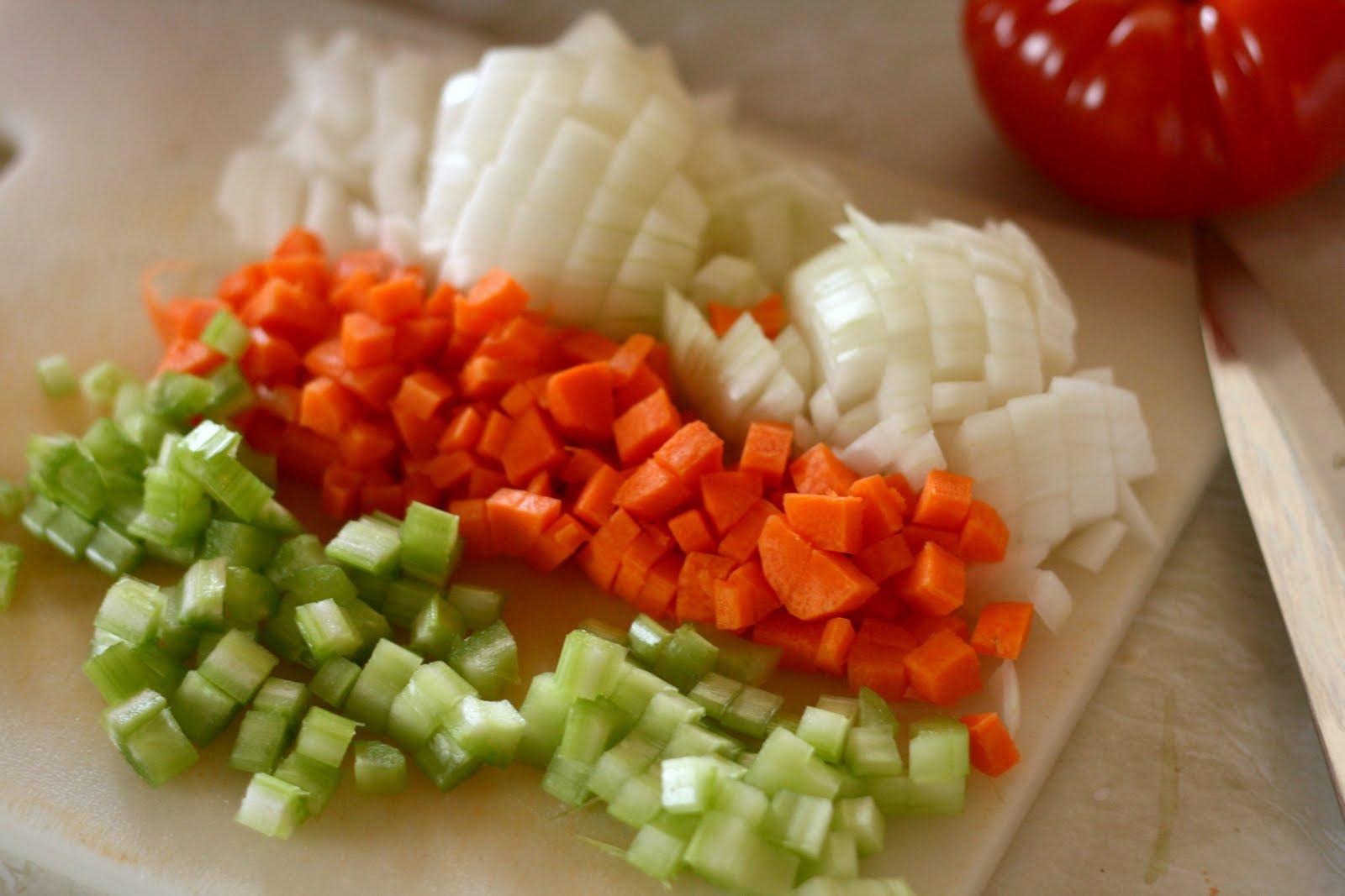 Gastronomia glosario mirepoix for Cortes de verduras gastronomia pdf