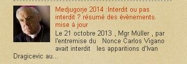 Medjugorje 2014 :Interdit ou pas interdit ? résumé des évènements. mise à jour