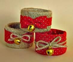 Servilleteros Reciclados para Navidad