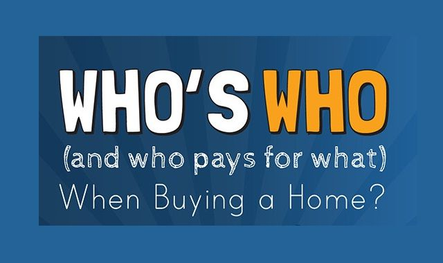 Image: Who's Who (and who pays for what) When Buying a Home? #infographic
