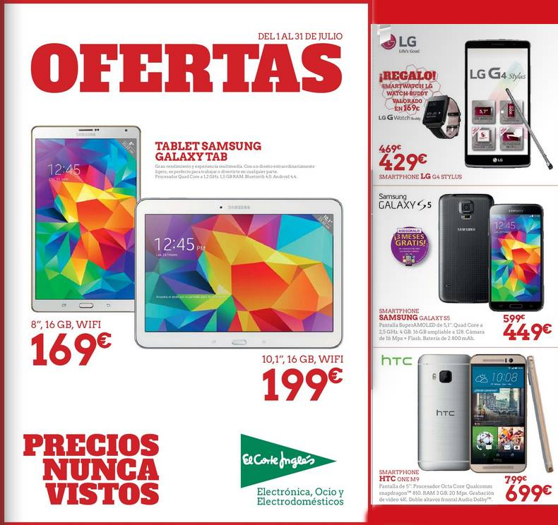 El corte ingles ofertas de electronica julio 2015 for Catalogo recibidores el corte ingles