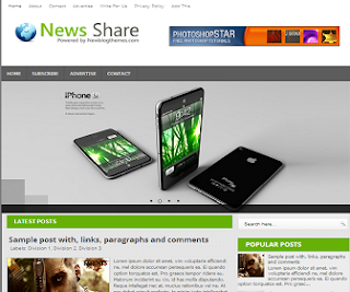 News+Share+Blogger+Template