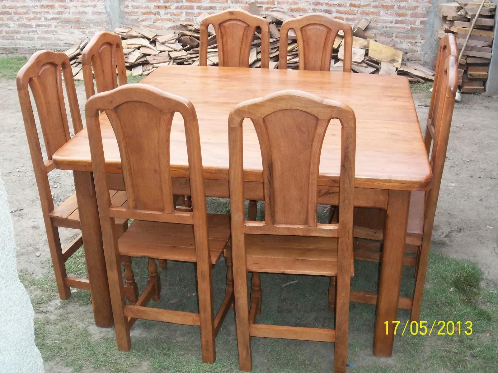 F brica de muebles y artesan as en algarrobo machagai for Mesa algarrobo usada