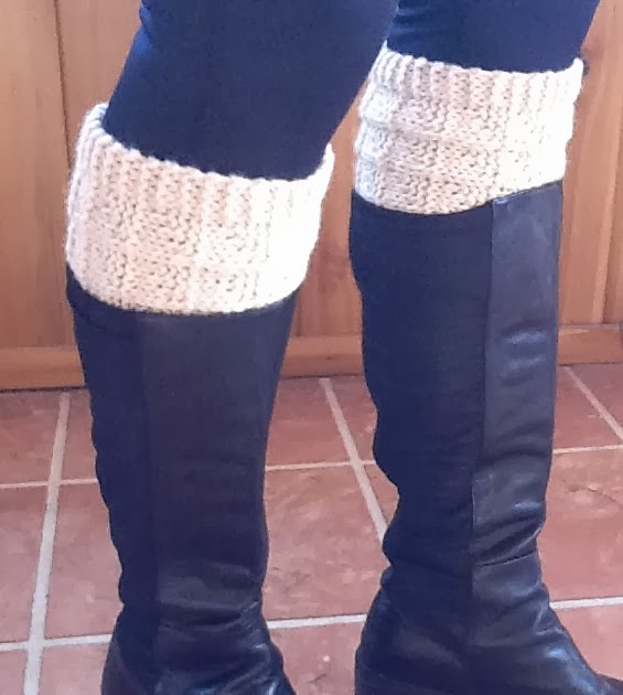 Knitted Pouffe Patterns : Kriskrafter: Free Knit Pattern! 2-Needle Boot Toppers / Cuffs