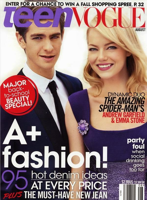 http://funkidos.com/hollywood/andrew-garfield-and-emma-stone-at-teen-vogue
