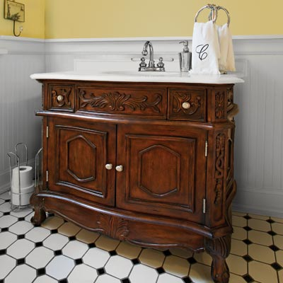 Unique Bathroom Vanities  Do You Suppose Vintage Style Bathroom Vanities