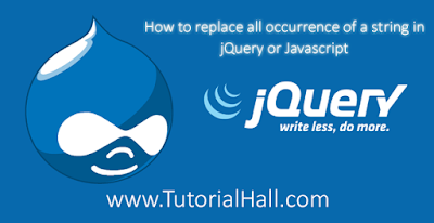 How to replace all occurrence of a string in jQuery or Javascript