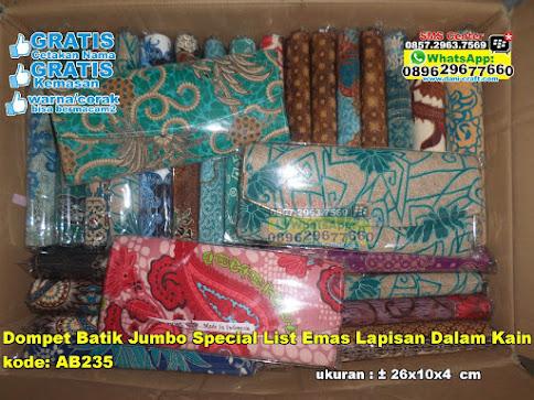 Dompet Batik Jumbo Special List Emas Lapisan Dalam unik