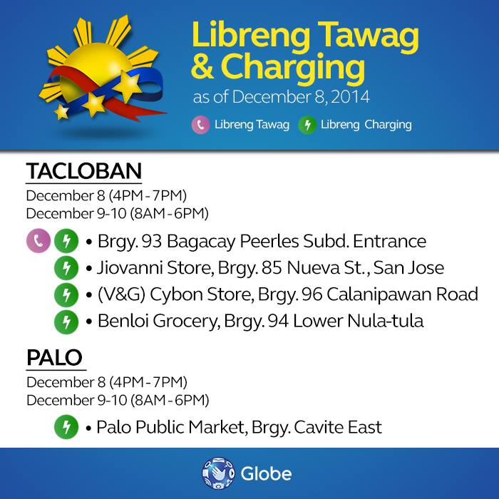 Globe libreng tawag and charging services