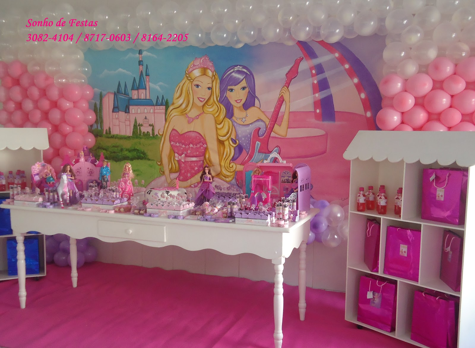 Festa Proven  Al Barbie Princesa E Pop Star