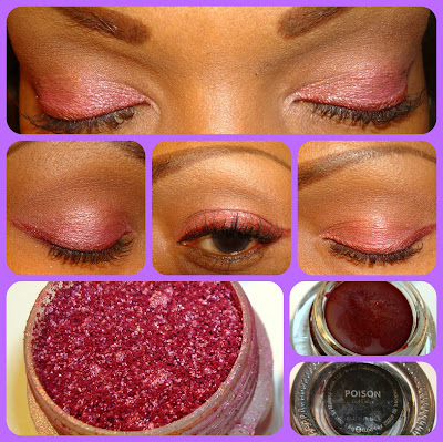 Makeup Geek Poison Gel Liner & Mac Pink Glitter