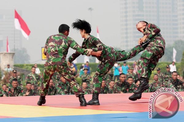 Poto Pertunjukan Bela Diri TNI AD di Monas