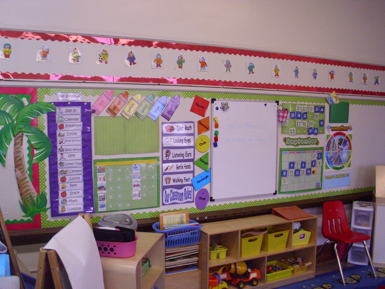 Pre Primary Classroom Decoration Ideas : Pink polka dots and pre k welcome to