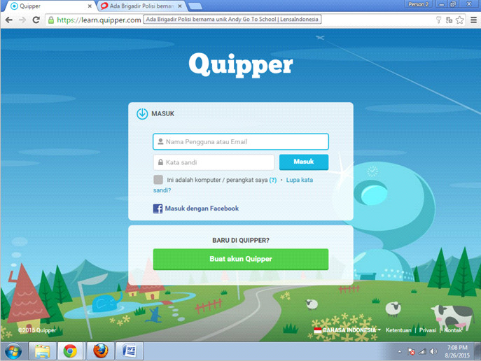 quipper school portal siswa