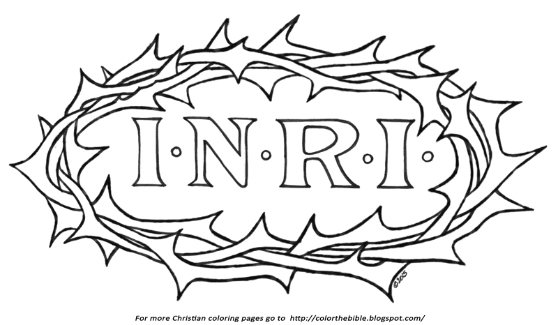 Crown of Thorns Coloring Page | Color The Bible