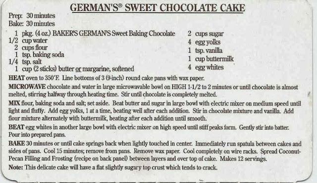 Aunt B Simply Living Baker S German Chocolate Cake