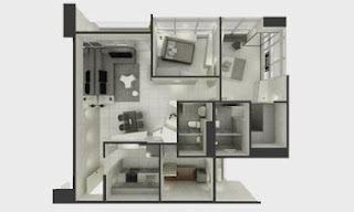 Senta Makati Two Bedroom Unit Plan