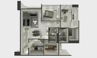 Senta Makati Two Bedroom Unit Plan