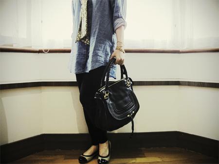 chloe large marcie handle bag