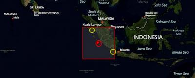 Terremoto de 6,3 grados de magnitud sacudió Kepulauan Mentawai Región, Indonesia el 14 de septiembre de 2012