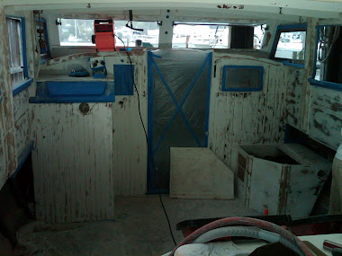 Before - 40' Bay Charter Interior