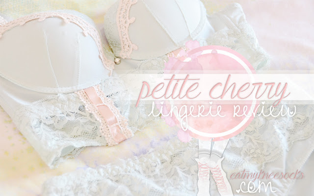 A review of a cute lace lingerie set from Petite Cherry, brought to you by Eat My Knee Socks/Mimchikimchi.