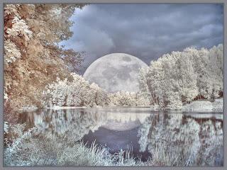 Luna en la nieve Fotografias de luna